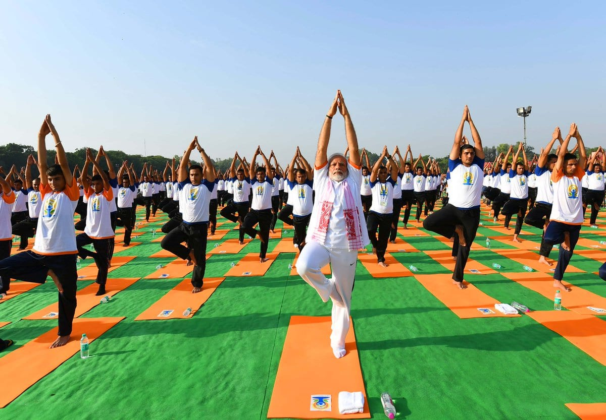 Prime Minister Narendra Modi leads International Yoga Day 2018 celebration
