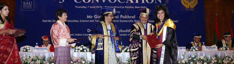 65 foreign students receive degrees at South Asian University's third convocation