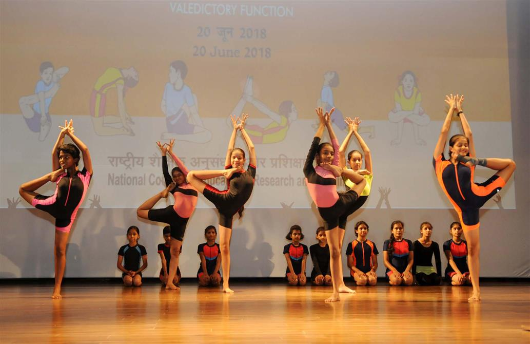 The three day National Yoga Olympiad organised by NCERT concludes with distribution of prizes in various categories