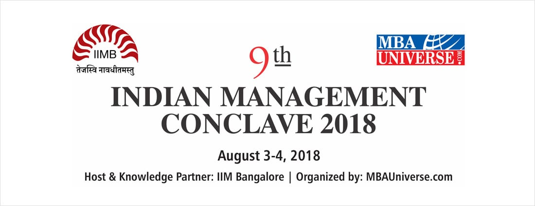 IIM Bangalore to host Indian Management Conclave in association with MBAUniverse.com on Aug 3 & 4