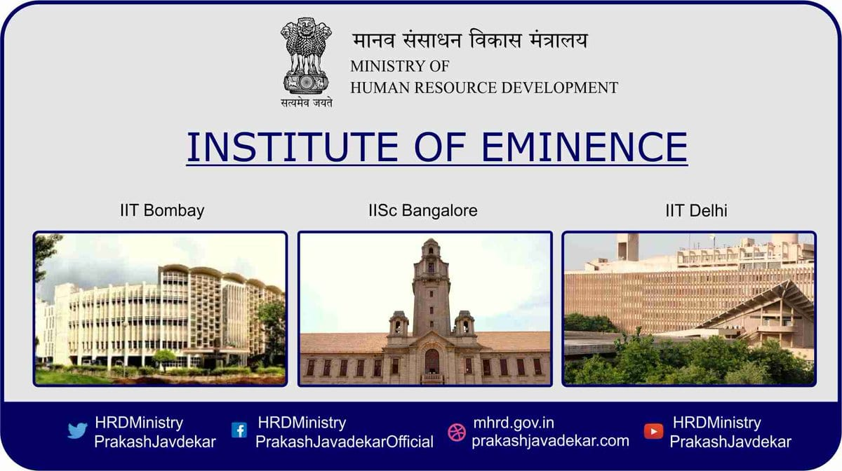 Six Institutes get World Class Universities tag with Institutes of Eminence (IoE): HRD Minister