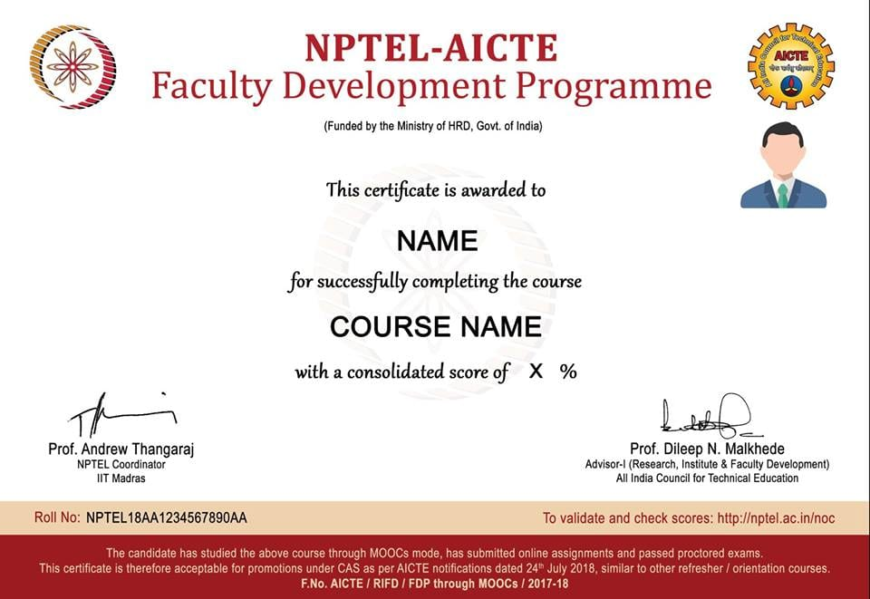 AICTE recognizes advanced level NPTEL courses as Faculty Development Programs for Engineering Colleges