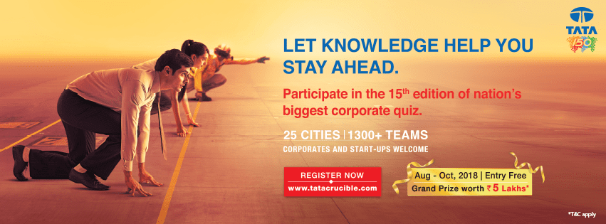 Tata Crucible Corporate Quiz 2018 kicks off