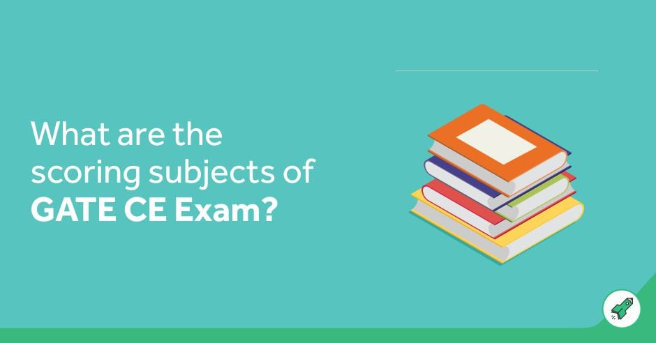 What are the scoring subjects in GATE CE Exam?