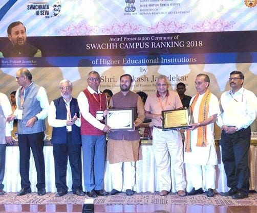 NIIT University (NU) Ranks Among Top 10 Cleanest Residential Technical Universities of India, Under the Aegis of PM Modi's Swachh Bharat Mission