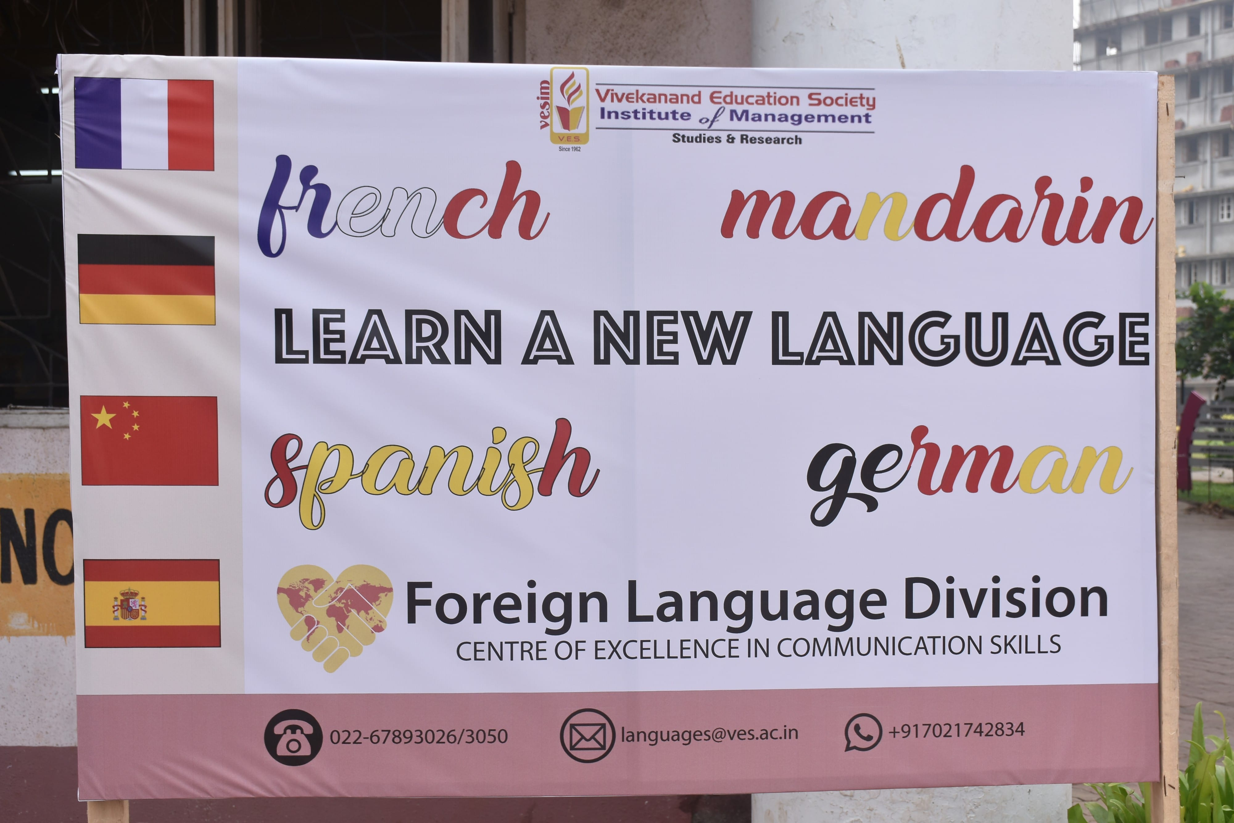 VESIM Mumbai launches Foreign Language Division - Mandarin, French, German & Spanish to be taught