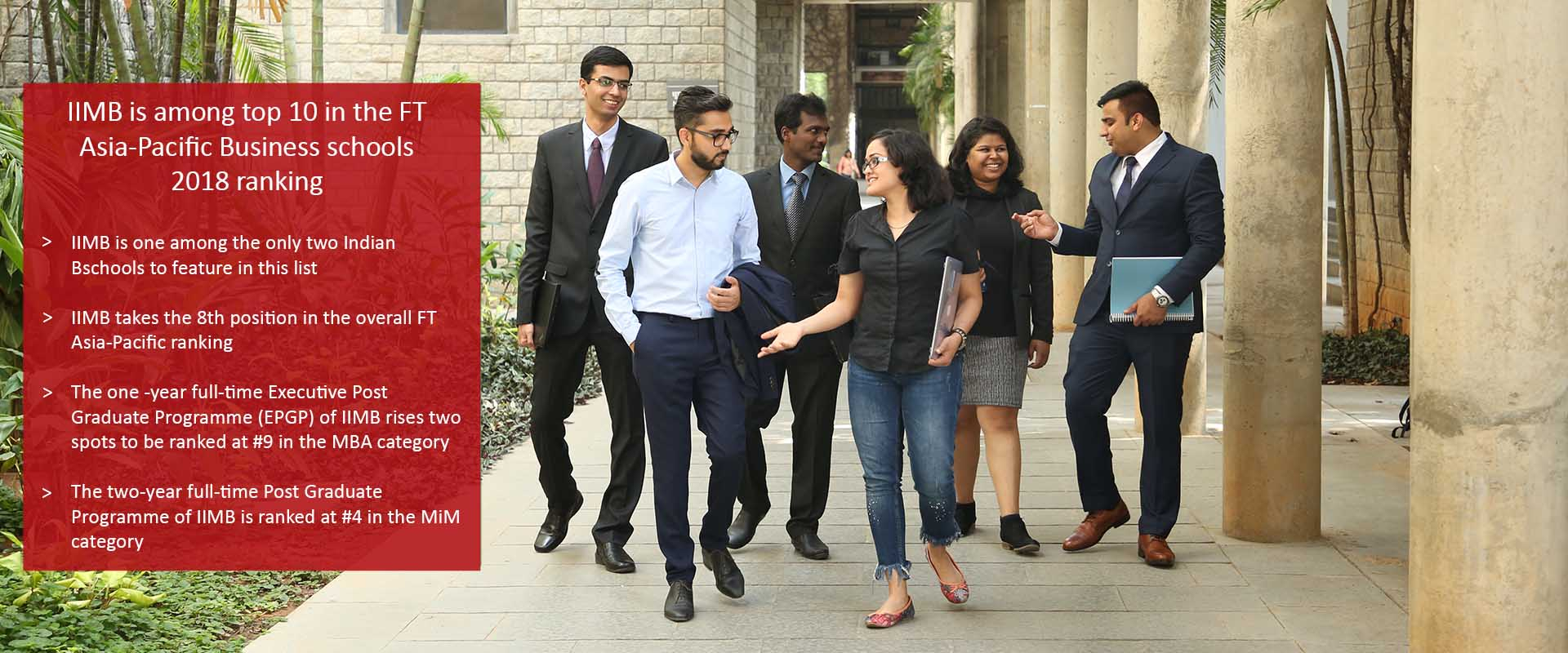 IIM Bangalore is among top 10 in the FT Asia-Pacific Business schools 2018 ranking