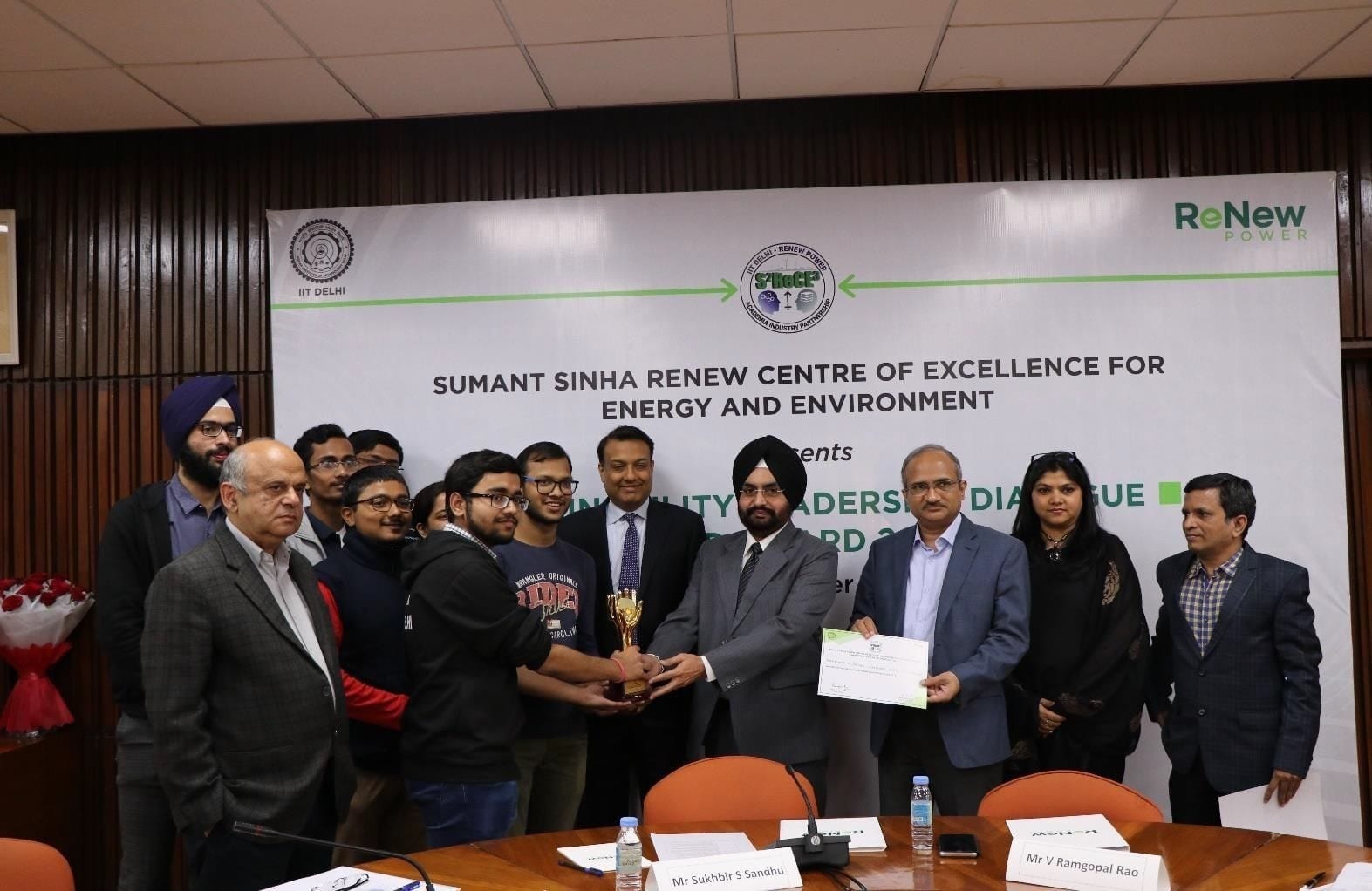 Sumant Sinha Sustainability Leadership Award Winners Felicitated at IIT Delhi