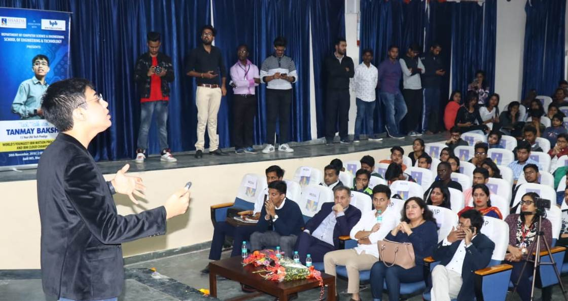 Sharda University organised a 'Tech Talk' with Tanmay Bakshi