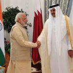 The Prime Minister, Shri Narendra Modi with the Emir of Qatar Sheikh Tamim Bin Hamad Al Thani, in Doha, Qatar on June 05, 2016.