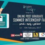 Intern Theory kickstarts a ten-day Post Graduate Online Summer Internship Fair today